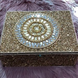 Accessories - Gold beaded jewelry box